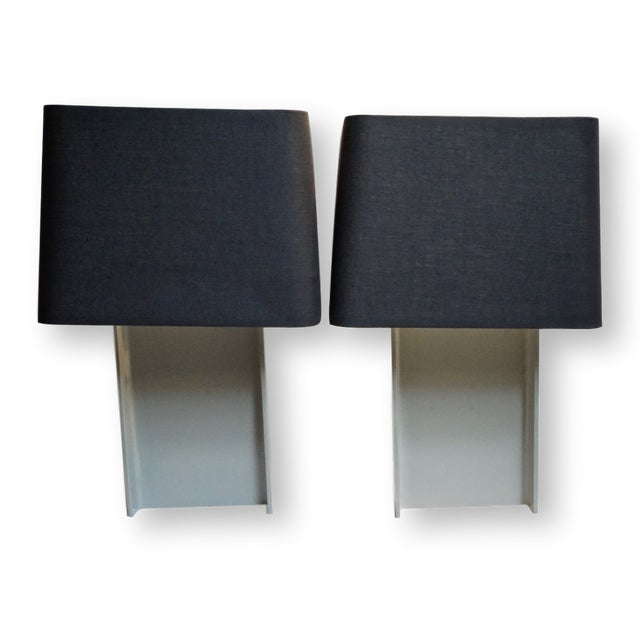 Industrial Painted I-Beam Table Lamps by Laurel Lamp Co.-Pair For Sale - Image 13 of 13
