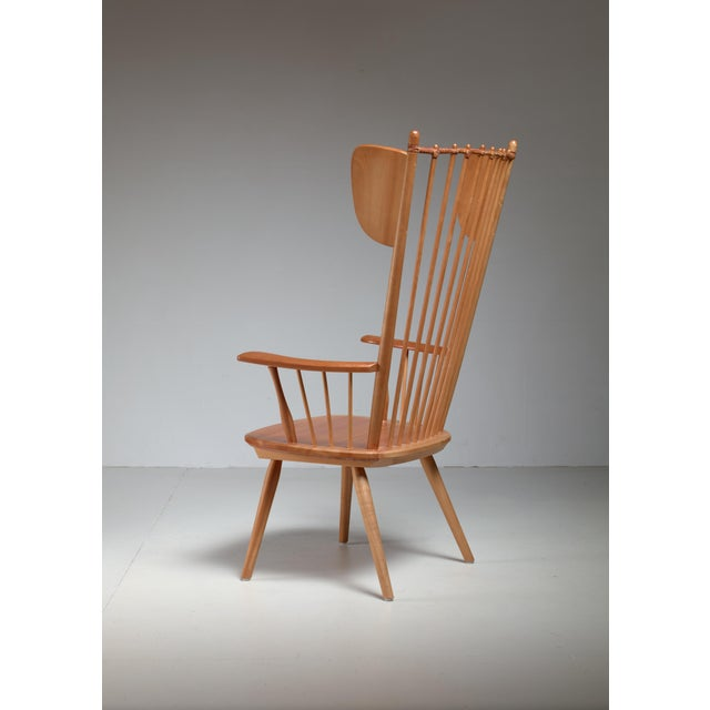 1950s Albert Haberer Wingback Armchair, Germany, Circa 1950 For Sale - Image 5 of 11