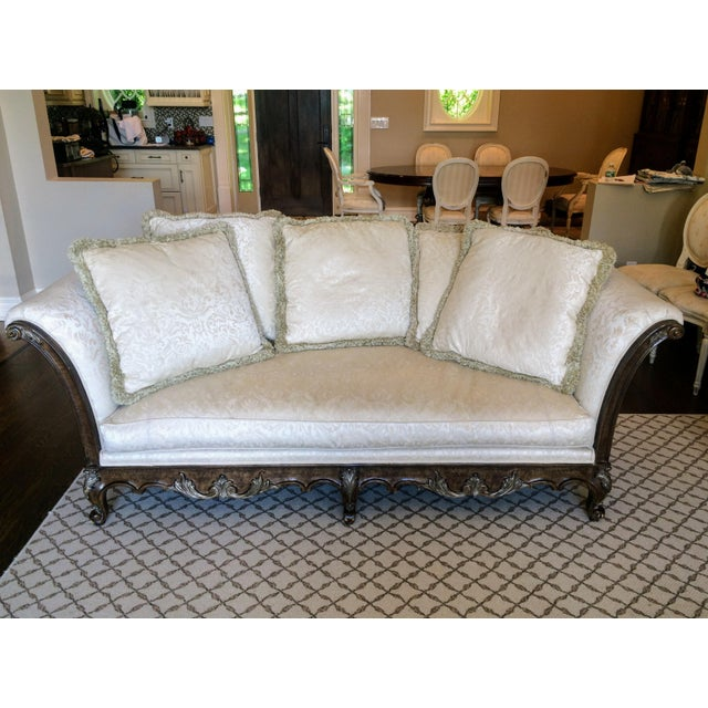 French White Jeffco Regency Sofa For Sale - Image 3 of 11