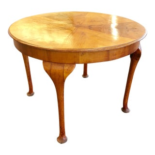 Beidermier Inlay Round Table -Signed For Sale
