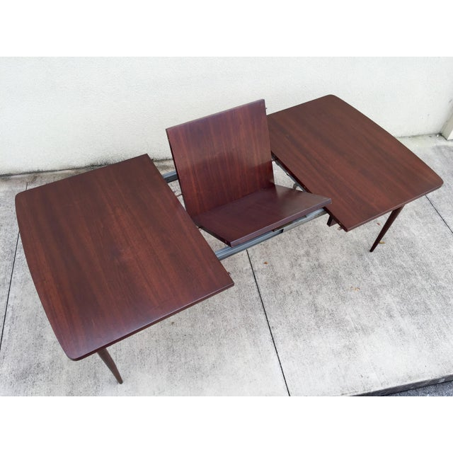 Mid-Century Expandable Walnut Dining Table - Image 4 of 11