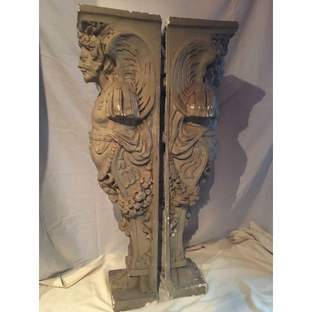 19th Century Plaster Fireguards - Pair - Image 3 of 9