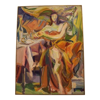 """Orange Gown"" by Barbara Yeterian For Sale"