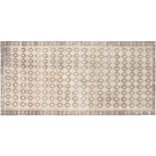 "1960s Turkish Oushak Rug - 4'10"" X 10'2"" For Sale"