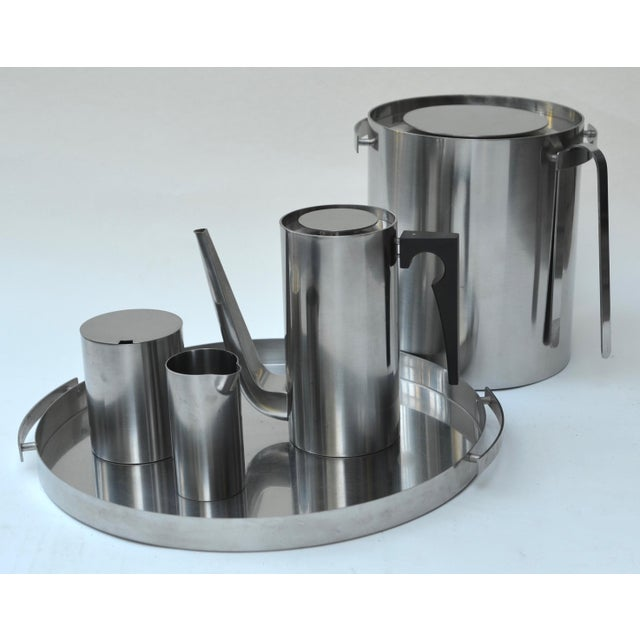 Brown Arne Jacobsen Stainless Set for Stelton For Sale - Image 8 of 8