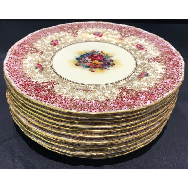 English Early 19th Century Royal Worcester Dinner Plates - Set of 12 For Sale - Image 3 of 7