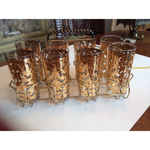 Signed Georges Briard 1960 Spanish Scroll Tumblers - Image 2 of 7
