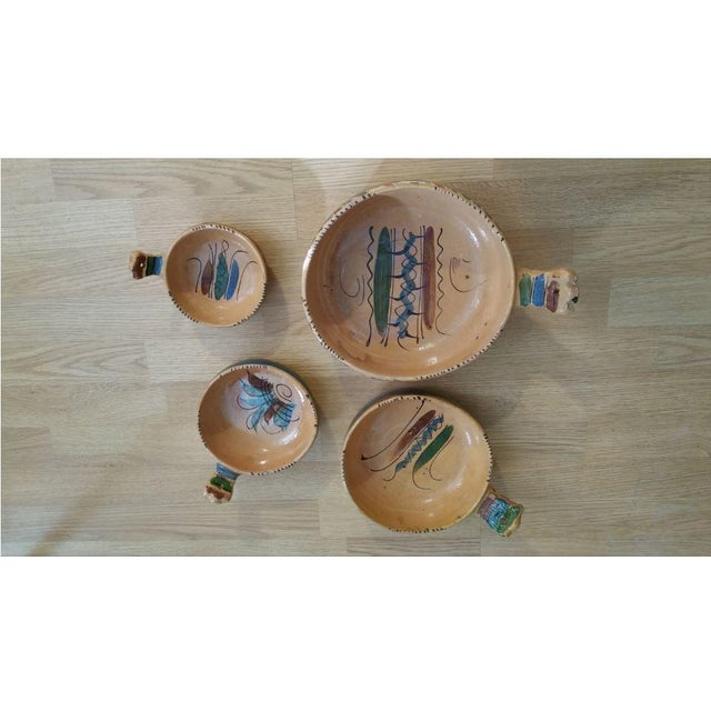 Ceramic 20th Century Mexican Tlaquepaque Nesting Chili Bowls - Set of 4 For Sale - Image 7 of 9