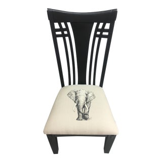 Black Elephant Side Chair