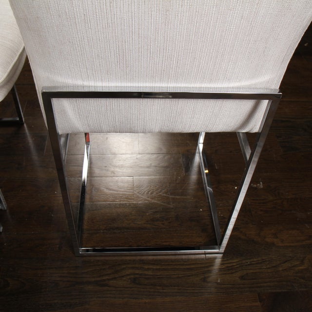 Milo Baughman for Thayer Coggin Chrome Dining Chairs For Sale In New York - Image 6 of 10