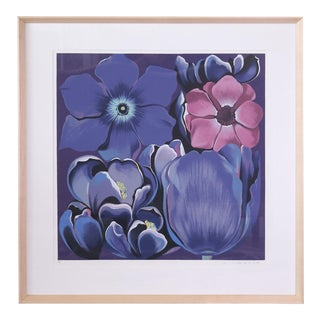 "Signed Serigraph ""Violet Monochrome"" by Lowell Nesbitt For Sale"