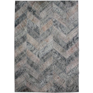 "Hand Knotted Patchwork Kilim by Aara Rugs Inc. - 10'2"" X 8'0"" For Sale"