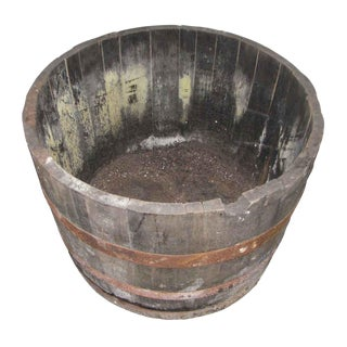 Antique Wine Barrels Cut to Make Buckets For Sale