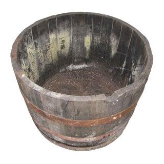 Antique Wine Barrels Cut to Make Buckets