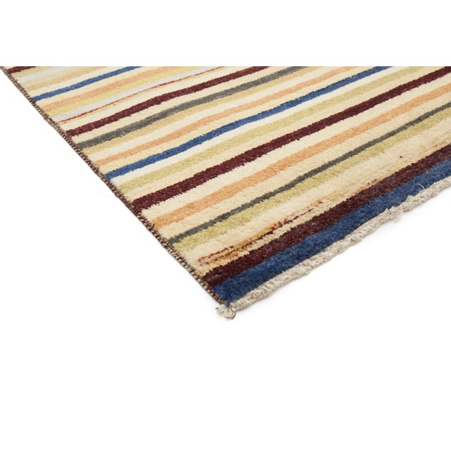 """Gabbeh Hand Knotted Area Rug - 3'2"""" X 5'5"""" - Image 2 of 3"""