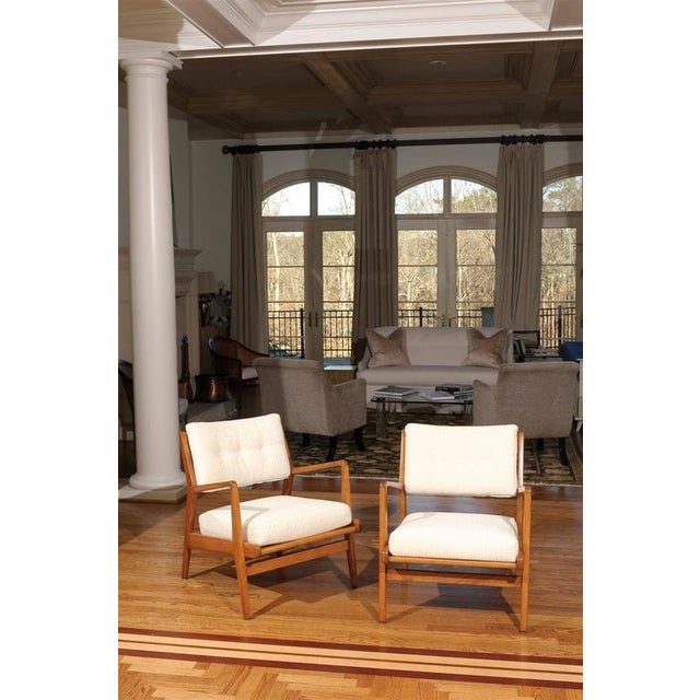 Danish Modern Restored Pair of Maple Loungers by Jens Risom For Sale - Image 3 of 10