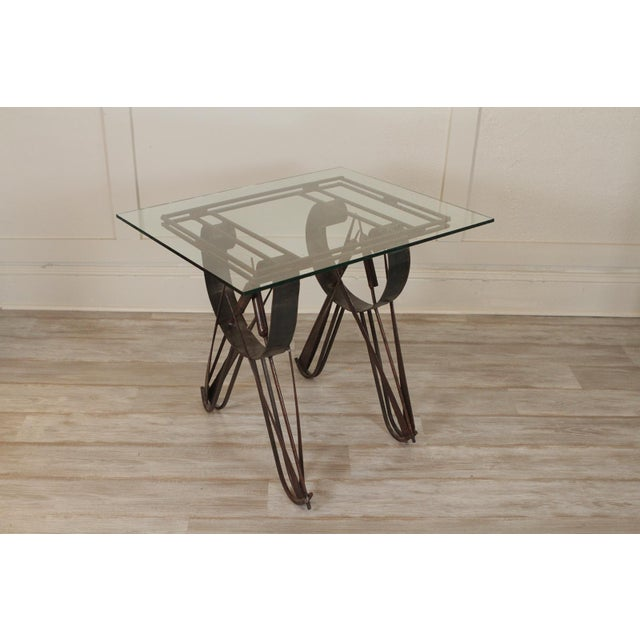 """Handmade Wrought Iron Side Tables, Slight Variation In Size Dimensions: 25""""H X 23.5""""W X 18""""D"""