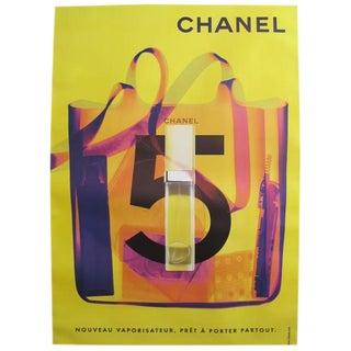 1998 Original Chanel No. 5 Poster (Yellow + Purple) For Sale