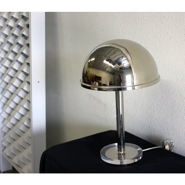 Charles Hollis Jones Chrome Dome Lamp - Image 2 of 3
