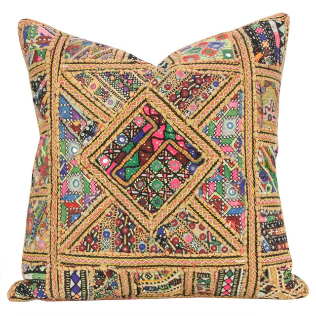 The captivating Jaislmer Pillow is a stunning accent with an extensive history. This vintage cotton fabric pillow features...