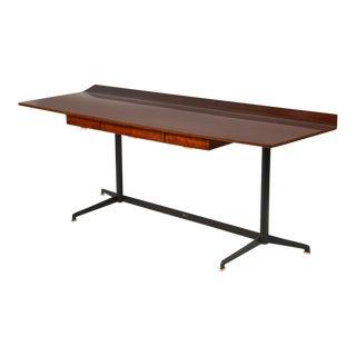Italian Rosewood Minimalist Desk For Sale