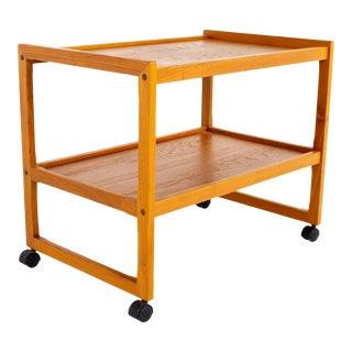 Mid Century Teak Bar Cart For Sale