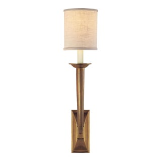 French Art Deco Bronze Single Light Wall Sconce by Visual Comfort For Sale