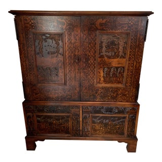 Thomas O-Brien Hickory Chair Collection Armoire Cabinet For Sale