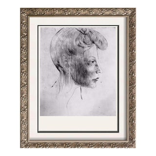 Pablo Picasso 'After' Head of a Woman in Profile C. 1905 Fine Art Print From Museum Artist For Sale