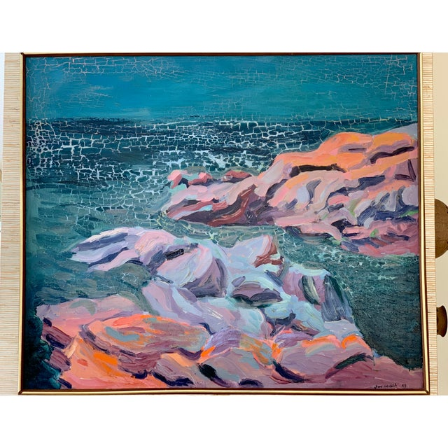Mid-Century Seascape Painting For Sale - Image 10 of 10