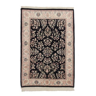 Persian Style Hand Knotted Wool Rug 3′11″ × 5′9″ For Sale