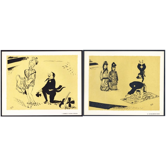 Two mid-Century lithographs from the portfolio Panorama du cirque by 'Serge' (Maurice Féaudierre). The portfolio was...