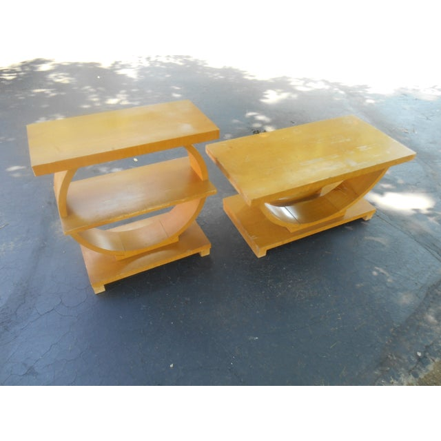 Art Deco Brown-Saltman Side Tables - A Pair - Image 2 of 4