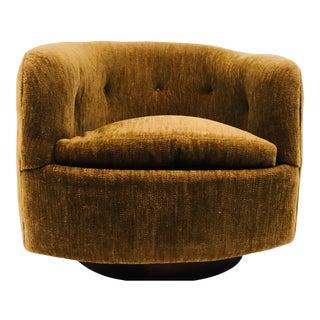 Milo Baughman for Thayer Coggin Mid-Century Modern Swivel Barrel Chair For Sale