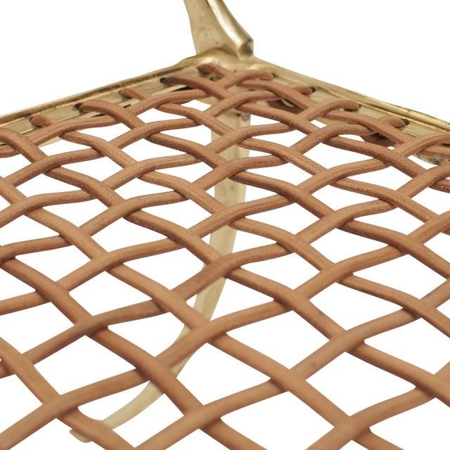Sylvan S.F. Aqua Brass Klismos Chair by Sylvan Sf For Sale - Image 4 of 9