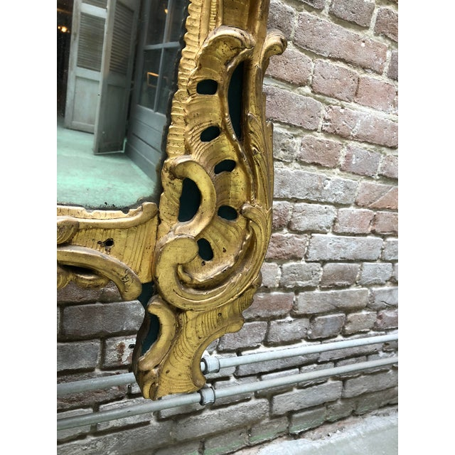 Gold Leaf 18th Century Louis XV Mirror For Sale - Image 7 of 11
