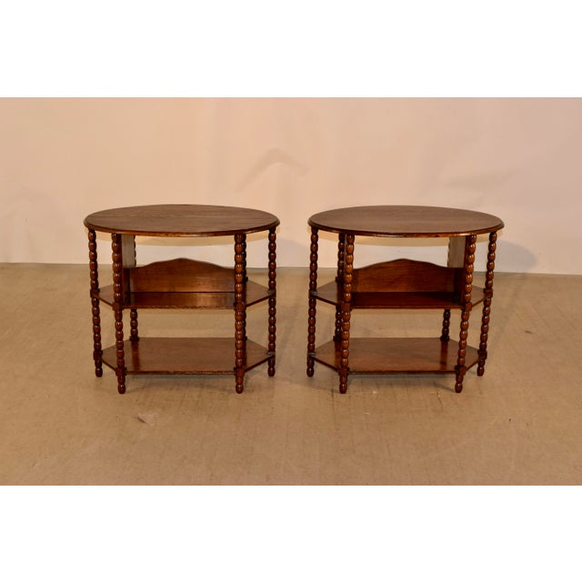 Wood Late 19th C Pair of English Side Tables For Sale - Image 7 of 7