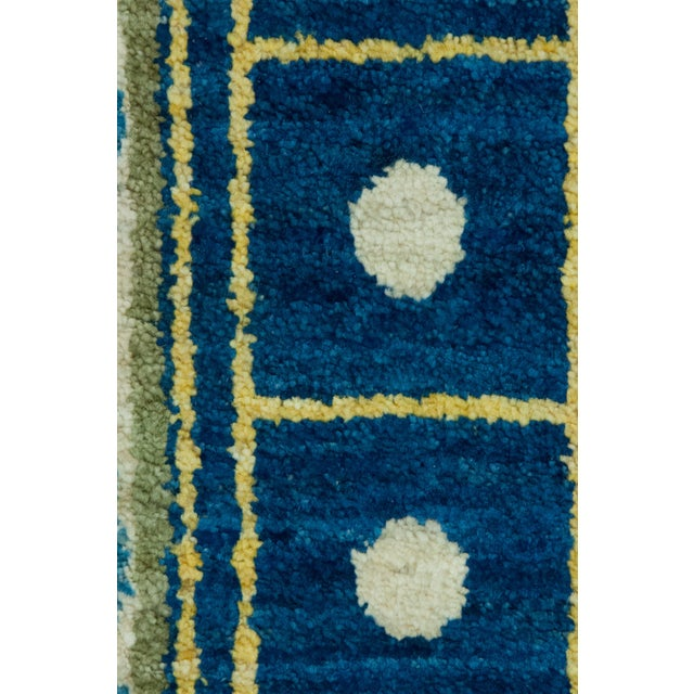 """Contemporary Suzani Hand Knotted Area Rug - 6'1"""" X 9'3"""" For Sale - Image 3 of 3"""