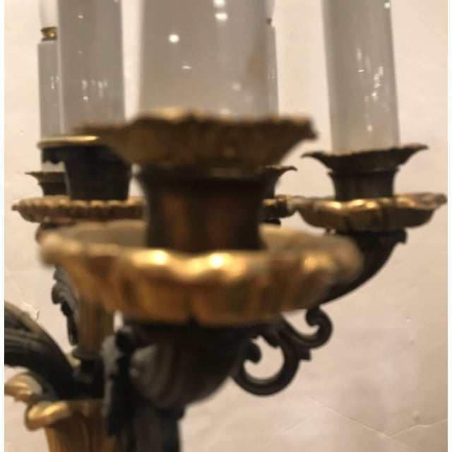19th Century Louis XV Bronze and Ormolu Electrified Candelabra For Sale In Philadelphia - Image 6 of 11