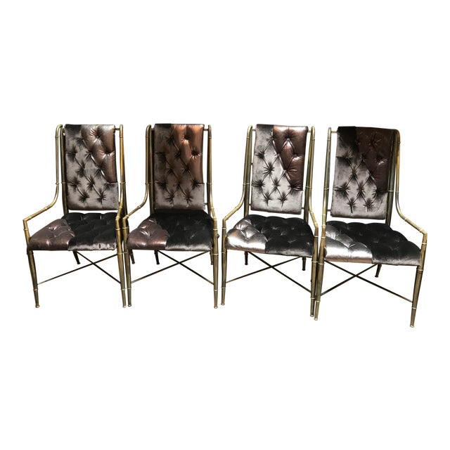 1970s Vintage Mastercraft Imperial Dining Chairs- Set of 4 For Sale