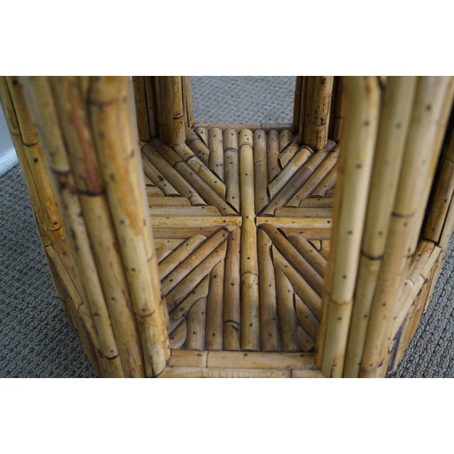 Vintage Rattan Bamboo Terrarium Display Cabinet For Sale - Image 7 of 9