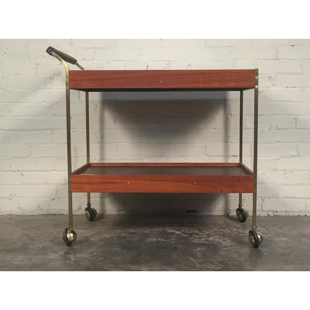 Mid-Century Modern Salton Hot Tray Cart For Sale - Image 7 of 9