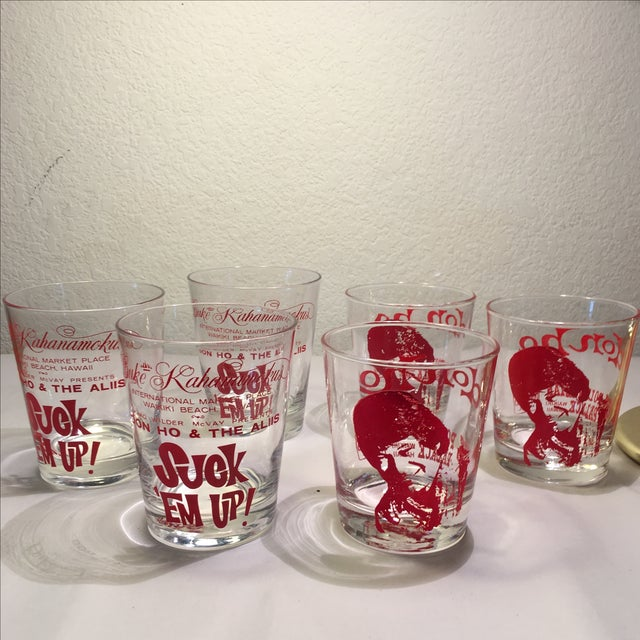 Vintage Don Ho Rocks Glasses - Set of 6 - Image 2 of 7