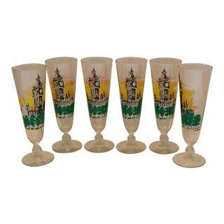 Mid Century Barware - 6 Pilsner Glasses