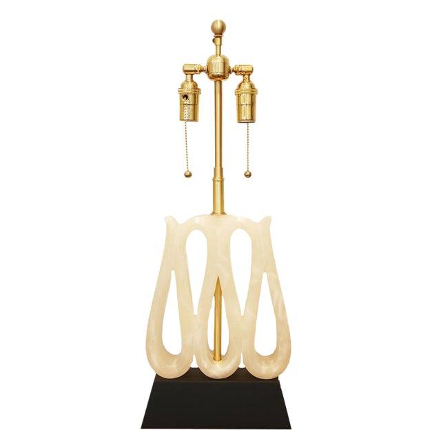 Alabaster Ribbon Lamp - Image 1 of 6