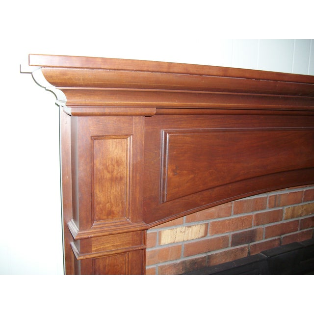 Modern Solid Cherry Fireplace Mantle Arched For Sale In New York - Image 6 of 12