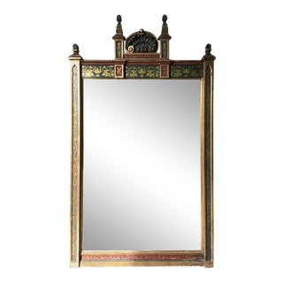 1920s Wood and Gesso Moorish Gilt Mirror For Sale