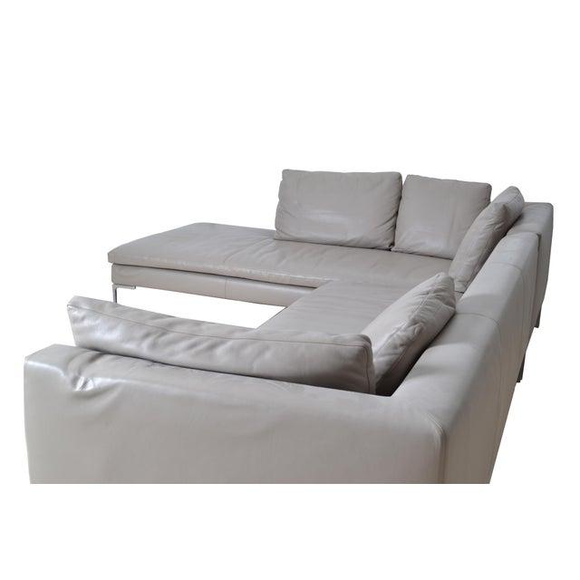 Italian Original B & B Italia Leather Sectional Sofa For Sale - Image 3 of 10