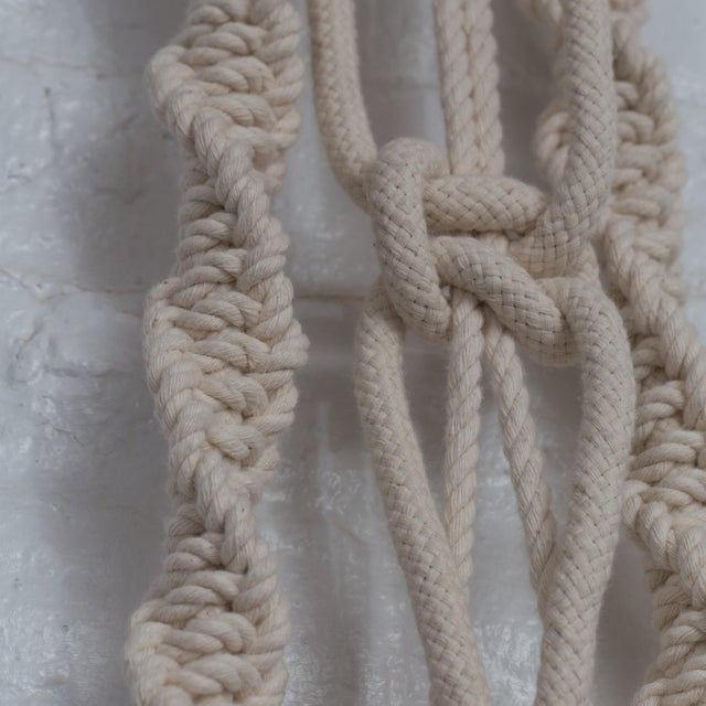 Hand Braided Macrame Wall Hanging by Oscar Ruiz-Schmidt and Barbara Cuevas For Sale In New York - Image 6 of 11