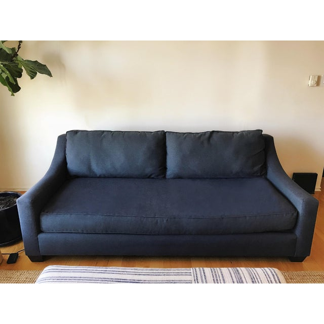 Navy Blue Custom Sofa - Image 8 of 8
